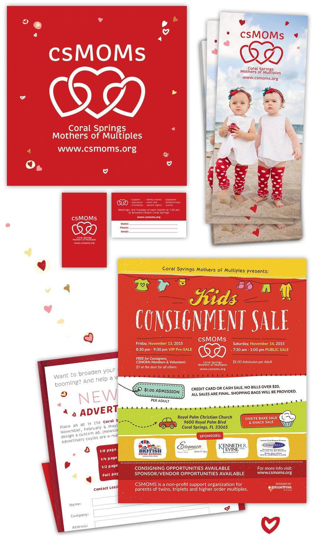 csmoms print brochure flyer design