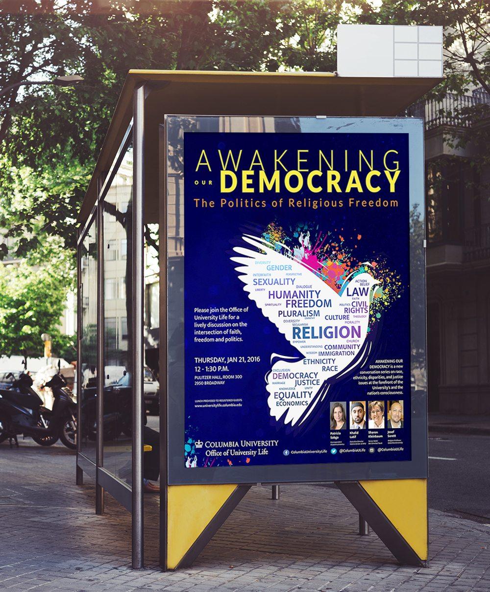 Poster print design for Columbia University
