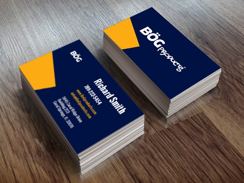 BOG Products Business Card Design