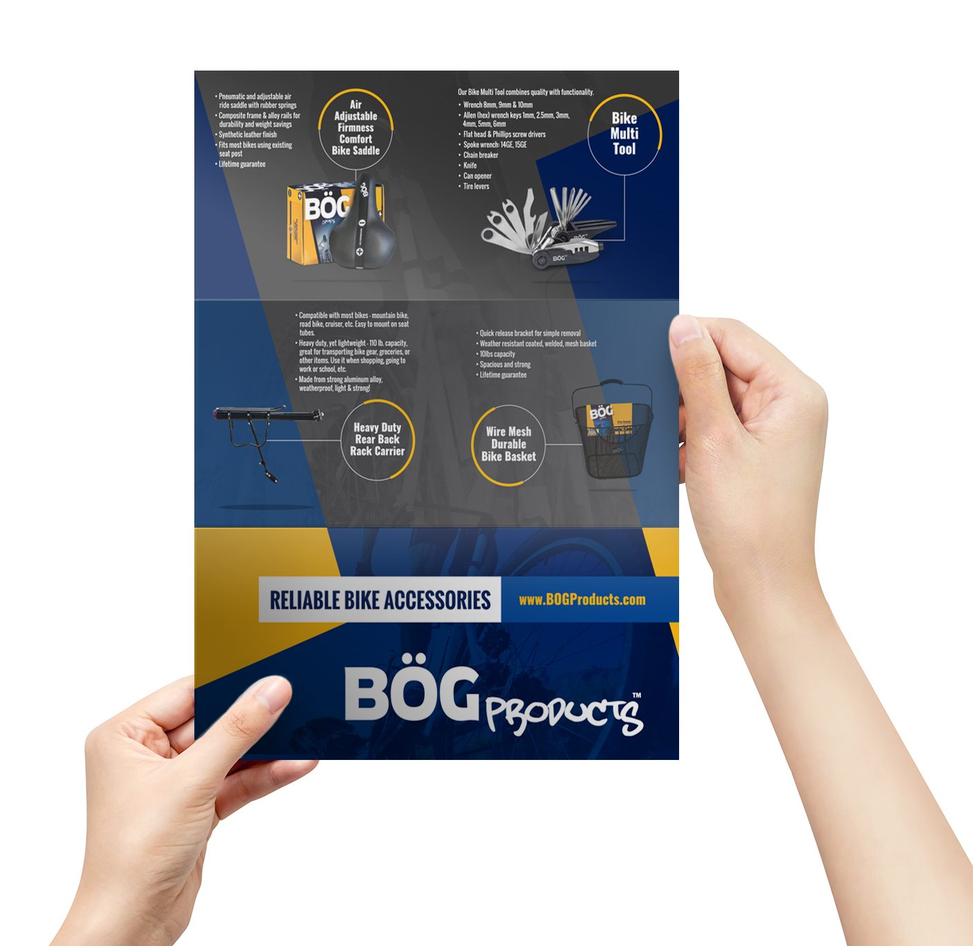 BOG Products Brochure Design