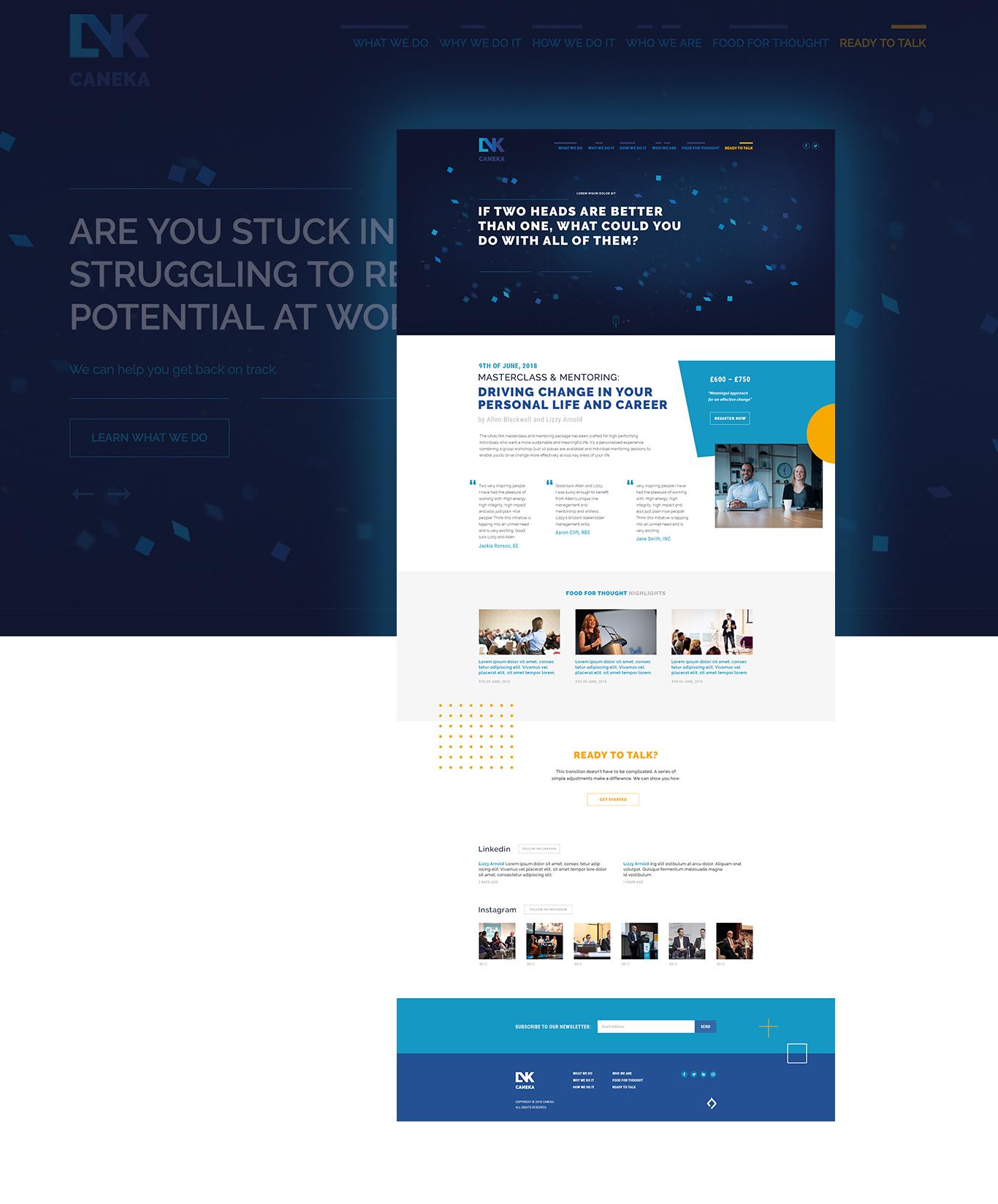creative small service website design