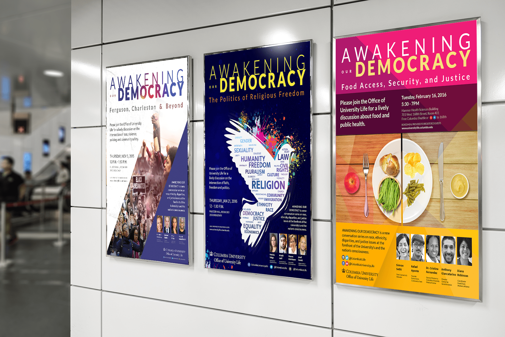 Poster print design for Columbia University - Office of University Life