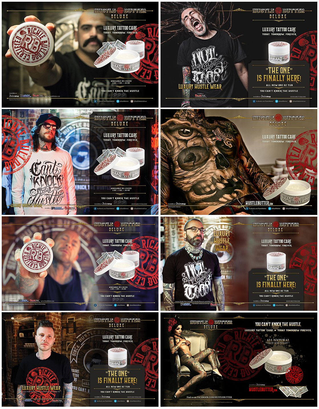 Hustle Butter ads for Inked Magazine