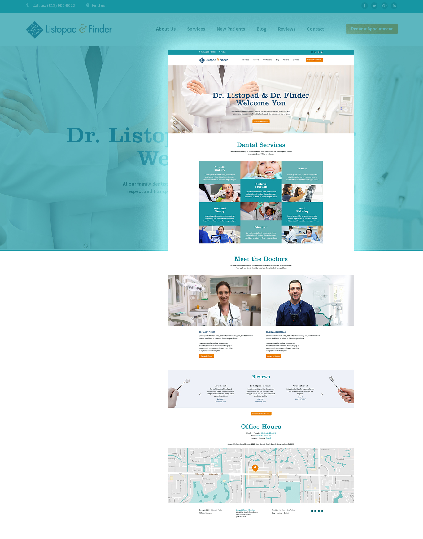 Listopad & Finder dental practice website