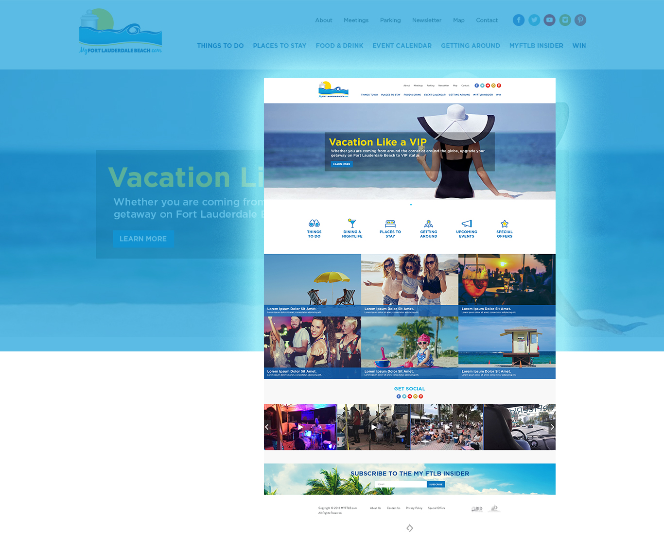 My Fort Lauderdale Beach website design