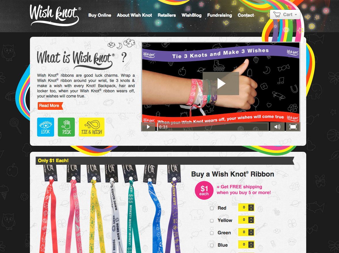 Wish Knot Website Web Design