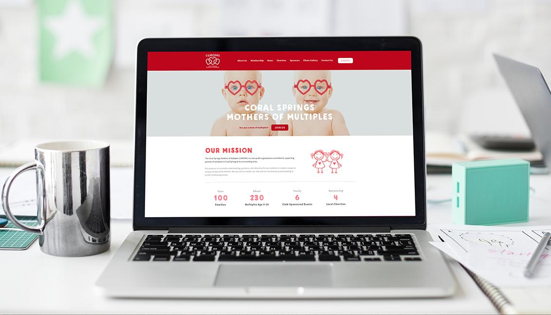 csmoms website web design