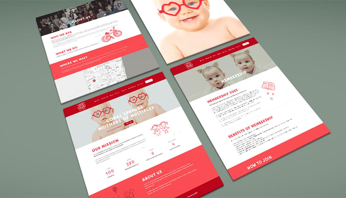 csmoms flyer website web design