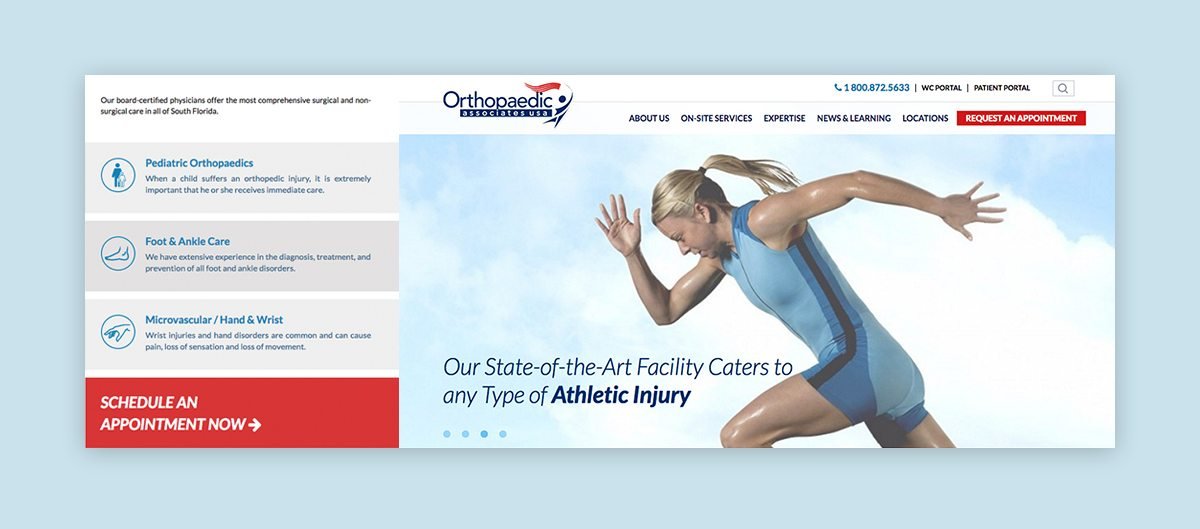 Fort Lauderdale web design for medical facility
